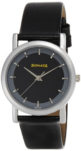 Sonata Analog Black Dial Men's Watch -NJ7987SL02W