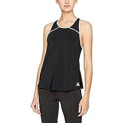 Adidas Club BK0717 Camiseta de Tenis, Mujer, Negro (Black/White), X-Large