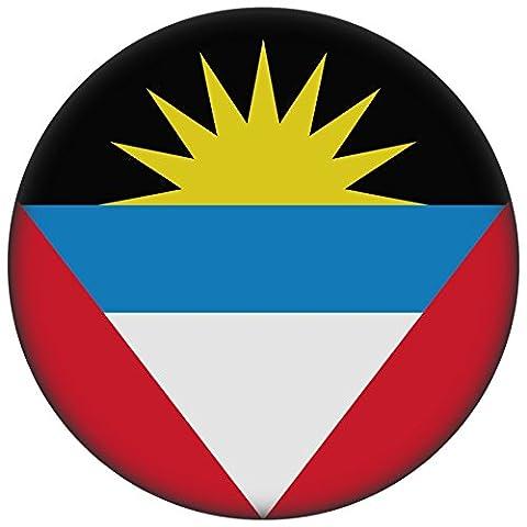 Button / Badge / Pin -- I Love Antigua & Barbuda Fahne Flagge (Antigua & Barbuda/Flagge)