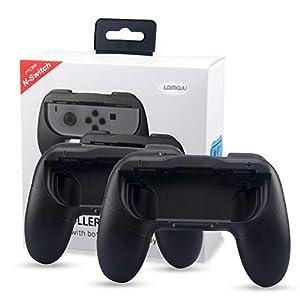 Joy Con Griff für Nintendo Switch Joycon Controller Halterung Ergonomisch Nintendo Joy Con Griff Halter Schutz Hülle Joy-Con-Griff Halter Zubehör für alle Nintendo Switch Konsole -Schwarz