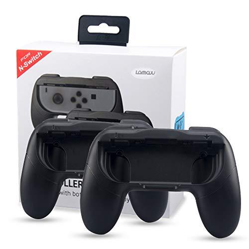 Joy Con Griff für Nintendo Switch Joycon Controller Halterung Ergonomisch Nintendo Joy Con Griff Halter Schutz Hülle Joy-Con-Griff Halter Zubehör für alle Nintendo Switch Konsole -Schwarz -