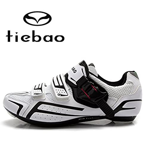 MaMaison007 Carretera a zapatos bicicleta bicicleta deporte zapatos zapatillas-11 blanco y negro
