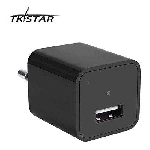 Ac-adapter Versteckte Kamera (Full HD 1920*1080P USB Charger ladegerät Kamera Home Security Wandladegerät Überwachungskamera und 32 GB Internen Speicher, Langzeitüberwachung Video Überwachung SP04)