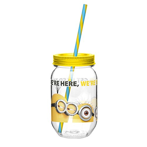 zak-designs-tritan-mason-jar-tumbler-with-screw-on-lid-and-straw-featuring-minions-graphics-break-re