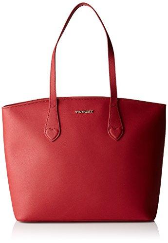 TWIN SET Aa7pds, Borsa Tote Donna, 13 x 28 x 33 cm (W x H x L) Rosso (Rubino)
