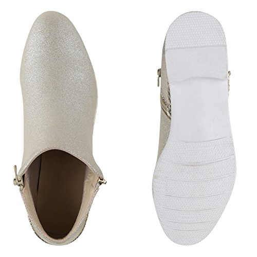 Senhoras Botas Ankle Boots Planas Pintar Sapatos De Ouro Metálicos