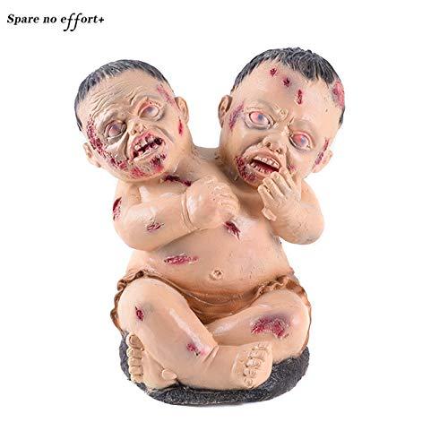 WSJDE Teufel Horror Halloween Party Supplies Gruselige Puppe Toy Bar Club Spukhaus Escape Halloween Dekorationen Gruselige Halloween Ghost