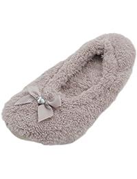Warme Damen Hausschuhe witzige Pantoffeln Slipper Ballerinas Geschenk Gr 36-42