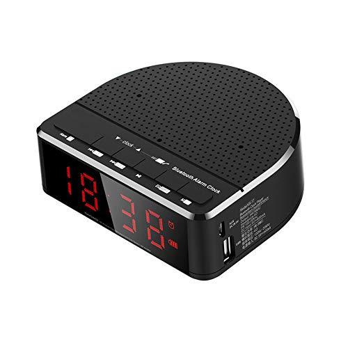 ZYWTZ Bluetooth Lautsprecher, Unterstützung FM Radio Funktion, Zeitanzeige/Weckereinstellung, TF-Karte/U-Diskette Unterstützen, Kompatibel Mit Einer Vielzahl Von Bluetooth-Geräten