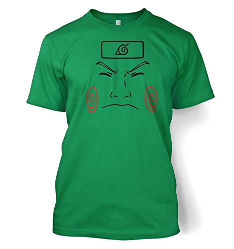 Choji Face Männer T-Shirt Kelly Grün