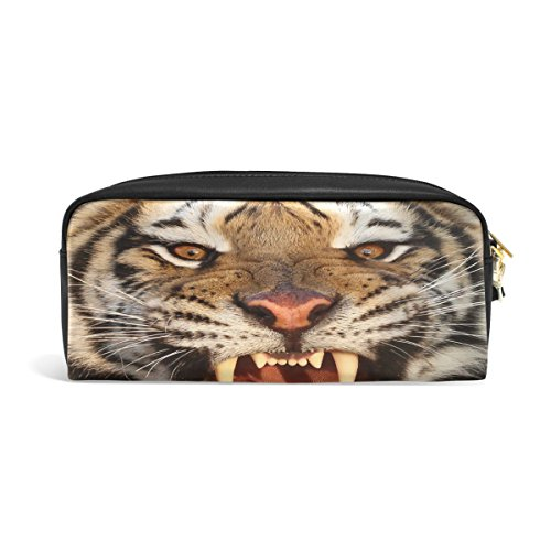 Domoko Tiger - Estuche piel sintética lápices, maquillaje