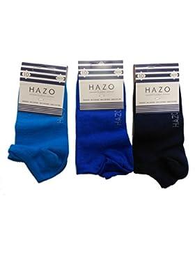 3 pares de calcetines invisibles de niño Hazo en 3 tonos azules