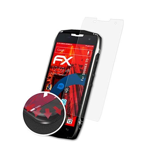 atFolix Schutzfolie passend für DOOGEE T5 Folie, entspiegelnde & Flexible FX Bildschirmschutzfolie (3X)