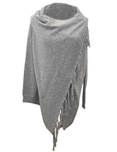 Boutiquefeel Damen Solid Quaste Hem Aymmetrische Cardigans Sweaters Grau
