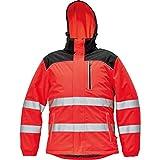 CERVA Knoxfield Warnschutz-Winterjacke Winterjacke Arbeitsjacke mit Reflexstreifen Rot Größe M