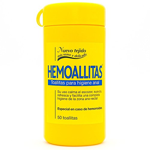 Hemoal Hemoallitas Toallitas para Higiene Anal - 50 Piezas