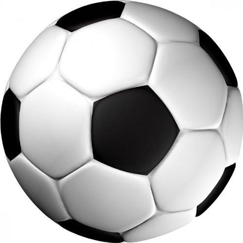 Kindergeburtstag Fussballparty Tortenaufleger Fussball Farbe Schwarz FB02
