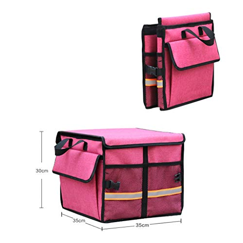 Cassiel Y Boîte De Rangement pour Voiture - Facile À Nettoyer, Pliable, Poignée en Aluminium (Rose),#1
