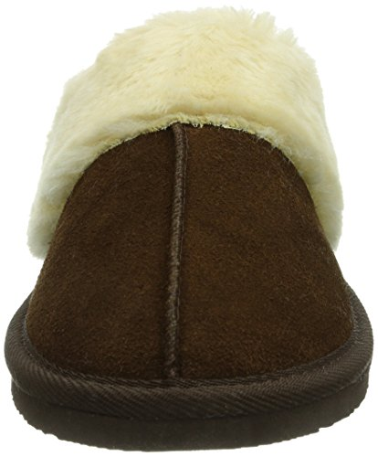 Minnetonka Chesney Scuff Damen Pantoffeln Braun (Chocolate)