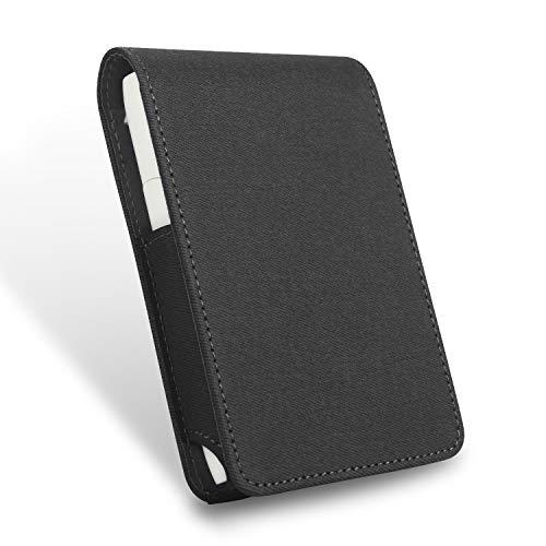 Zigarettenetui,LHZTZKA iqos 3.0 Multi Leder Zigaretten Box Behälter Portable Zigarettenschachtel Hülle case für elektronische Zigaretten-Dunkel schwarz