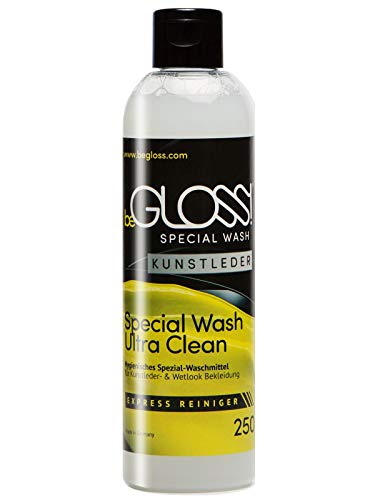 begloss Special Wash in Eco Pelle 250ML Detergente Detergente per Wetlook & Arte Abbigliamento in pelle