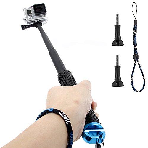 GoPro Selfie Bastone, Homeet Selfie Stick Retrattile Lega di Alluminio Impermeabile Antiruggine Adjustable per GoPro Hero 5/4/3+/3/2/Session, SJCAM/SONY HDR FDR/Garmin Virb XE/Xiaomi Yi 4K/DBPOWER/QUMOX /Akaso/Apeman/TECTECTEC 【Blu】