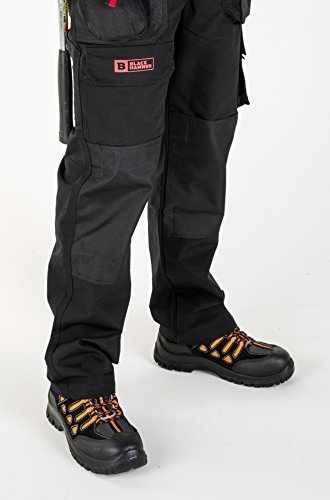 Black Hammer Bottes de Sécurité pour Homme avec Embout en Métal et Semelles Intérieures Protectrices 6682 Noir