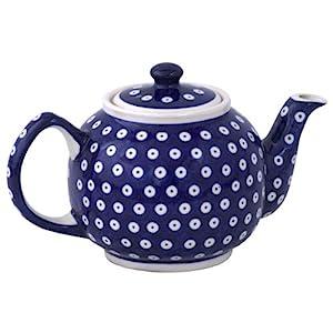 Boleslawiec Pottery Teapot, 1.0 L, Original Bunzlauer Keramik, Decor 42