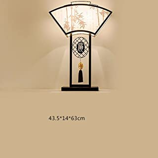 Living Room Brief Moderno Hotel Desk lamp, Bedroom lamp Chinese Wind Bed headlamp Household Decoration lamp,Light Green 3027,Button Switch