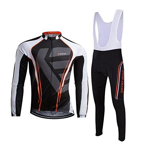 ELEAR® Uomo Maglia Manica Lunga e Salopette Pantaloni Lunga ciclismo bib Tight