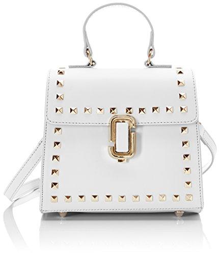Chicca Borse Damen 8673 Henkeltasche, 20x18x11 cm Bianco (White)