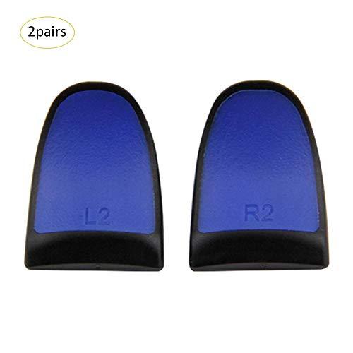 istary 2019 Lot de 2 Paires de poignées de Jeu L2/R2 Rallonge Trigger Extenders Style antidérapant pour PS4 Slim Pro Bleu