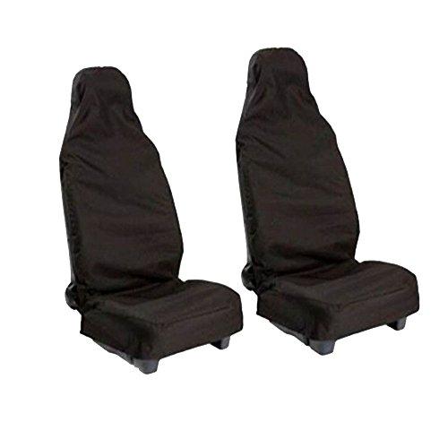 Coperture sedile auto, universale protezione sedile anteriore coprisedile, impermeabile antipolvere per autovetture per auto (nero)