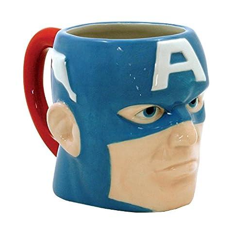 Marvel Captain America Molded Head 15 oz Ceramic Mug