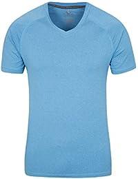 Mountain Warehouse Camiseta con cuello en V Agra para hombre