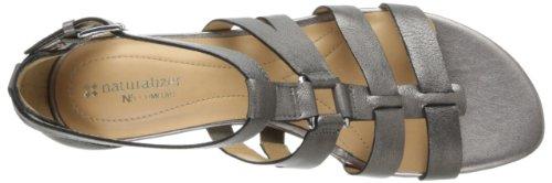 Naturalizer Jansin Damen Leder Keilabsätze Sandale Dark Pewter