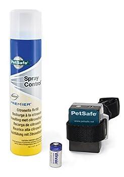 PetSafe - Collier Anti-Aboiement à Spray pour Chien + 1 Recharge - Collier de Dressage par Vaporisation - Léger, Imperméable, Facile à Utiliser, Réglage Automatique / Citronnelle