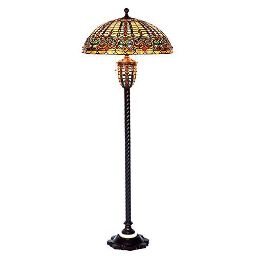 WWWJ LED 22 Zoll barocke Tiffany-Art-stehende Stehlampe, Klassische Weinlese verzierte...