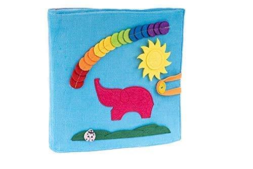 Tantino Premium Quiet Book Blue 100% Swen, Educational Toy, Toddler Activity Book, Busy Book, Toy Book (Kleinkinder Board Für Activity)