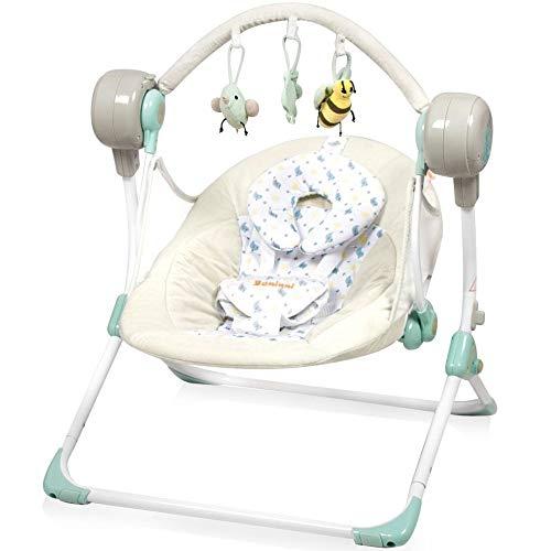 Elektrische Automatische Babyschaukel BANINNI Stellino Automatik Baby Wiege (Birdy)