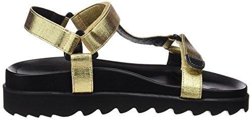 Sixtyseven 77402-Sandali Donna Multicolore (Oro/Negro/Negro/Negro)