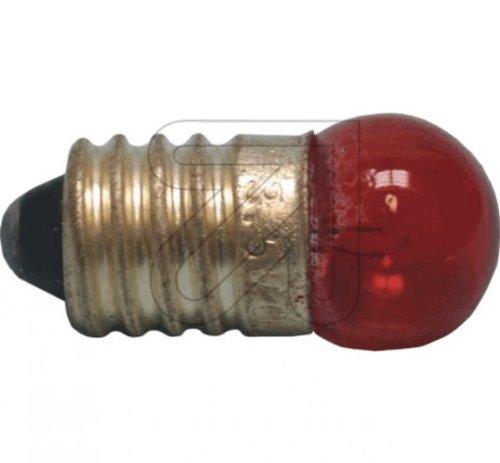 Globe Glühbirne (Globe Warehouse 10 Stück Kugellampe E10 rot 3,5V 0,2 A Glühlampe Glühbirne)