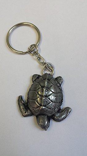 Schildkröte Zinn-Effekt 3D Emblem auf eine getrennte Schlüsselanhänger, handgemacht (Dog Schlüsselanhänger Lover Charm)
