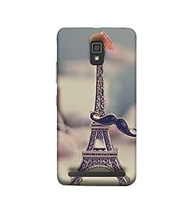 Fuson The tower with mustach Designer Back Case Cover forLenovo A6000 :: Lenovo A6000 Plus :: Lenovo A6000+-3DQ-1232