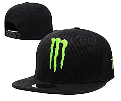 Unisex Monster Energy Einstellbare Hip Hop Sport Fans Hut Hysteresen Baseballmütze (schwarz, 1)