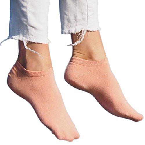 ALL ABOUT SOCKS 5er Pack Sneaker Socken pink 39-42 Damen | 39 kurze Socken 40 kurze Sneakersocken 41 Rosa Füßlinge 42 (Kurze Damen Jungen Pink)