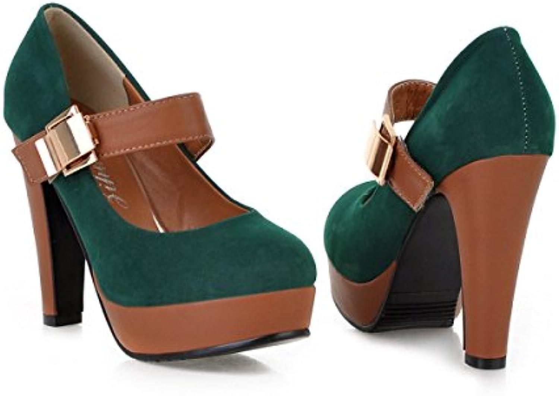 GRRONG Zapatos De Mujer Impermeable Zapatos De Tacón Alto Velcro Ultra-alta Con Las De Otoño E Invierno Zapatos...