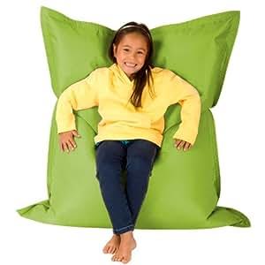 Hi-BagZ KIDS Bean Bag 4-Way Lounger - LIME GREEN Bean Bags Outdoor Floor Cushion - 100% Water resistant Childrens Bean Bags