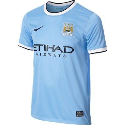NIKE Jungen Kurzärmliges Trikot Manchester City FC Home Replica, Field Blue/Obsidian, XL, 574859-489