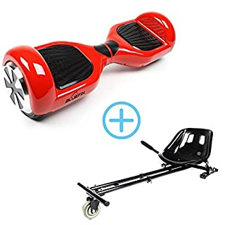 """Bluefin 6.5"""" Self Balancing Scooter,Red (Red with Kart) (B079RPCK72) 